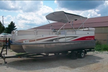Rental Motorboat Landau Landau Atlantis 2303 23′ pontoon boat Bohners Lake