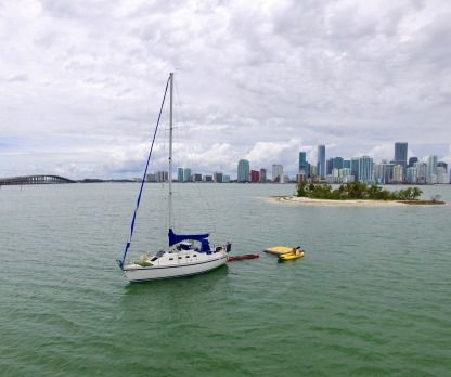 Rental Sailboat Sail Yachts 30' Key Biscayne