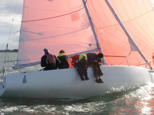 Sailboat Voile Sportive J80 peer-to-peer