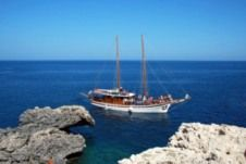 Traditional Wood Motor Schooner With Sails in Protaras for rental