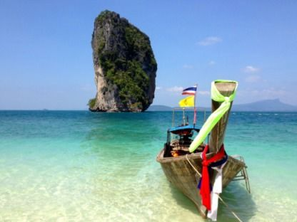 Charter Motorboat Custom Long Tail Boat Krabi Noi