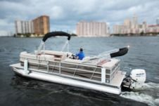 Bentley Pontoon Boat in Miami for rental