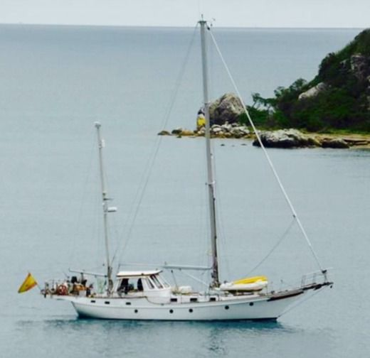 Sailboat Blue Water Vagabond 52 for hire