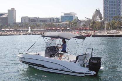 "Rental Motorboat Benetau Flyer 5.5 Spacedeck ""wanda"" Barcelona"