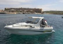 Charter motorboat in Malta