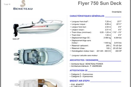 Hire Motorboat Beneteau Flyer 750 sundeck Cannes