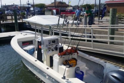 Rental Motorboat 23' Maycraft Center Console Motorboat Morehead City