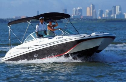 Rental Motorboat Hurricane Sun Deck Miami