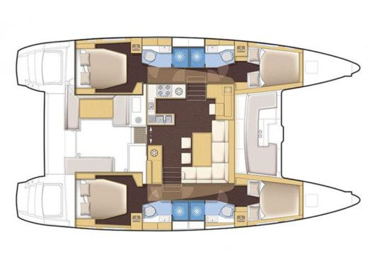 Lagoon 450 Flybridge a Portisco da noleggiare