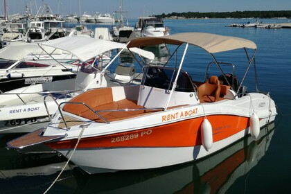 Rental Motorboat Barracuda Orange Funtana