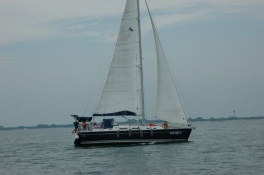 Charter sailboat in Venice