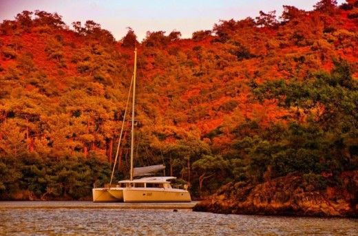 Charter catamaran in Bodrum peer-to-peer