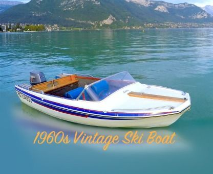 Charter Motorboat 1960S Vintage Ski Boat Rv15 70Ch Annecy