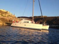Charter catamaran in Saint Paul's Bay
