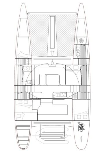 Catamaran OUTREMER YACHTING 45 entre particuliers