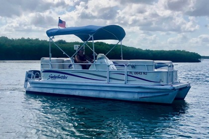Hire Motorboat Sweetwater 20' Pontoon boat Daytona Beach