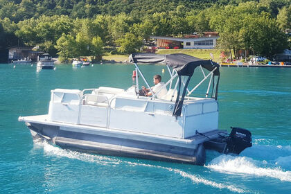 Hire Motorboat Pontoon Boat Savines-le-Lac