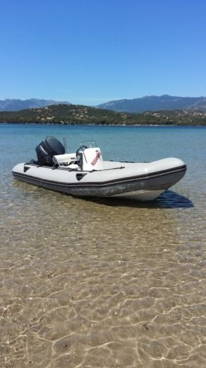 RIB Zodiac 80cv for hire